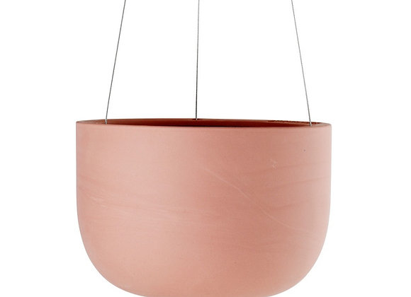 Raw Ochre Hanging Planter