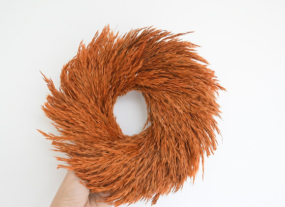 Dried Wreath Brown Grass