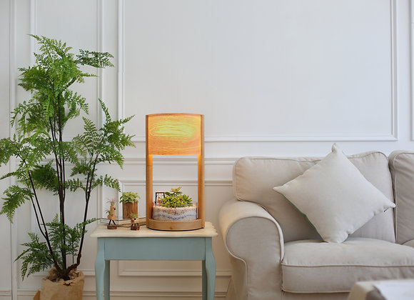 Wooden Greenhouse Lamp