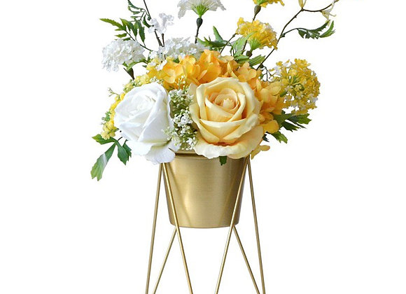 Gold planter w Stand