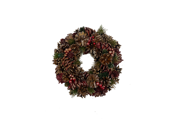 Christmas Wreath Glitter Red