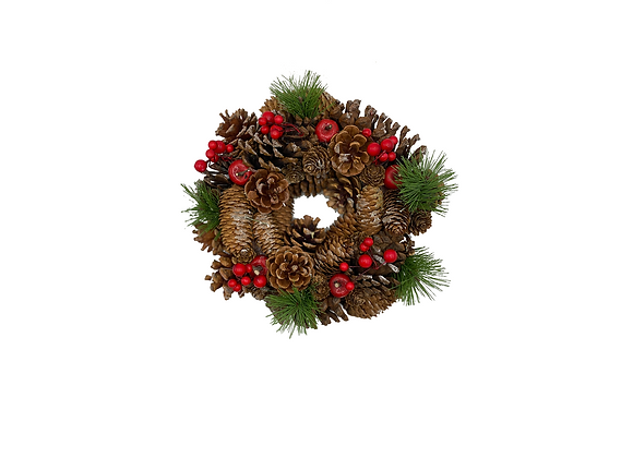 Christmas Wreath Cone/Red