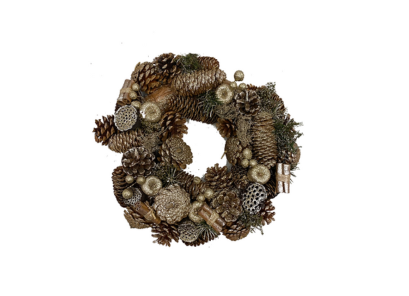 Christmas Wreath Silver/Brown