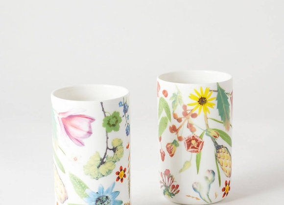 Spring Flowers Tumbler Cup Set x 2
