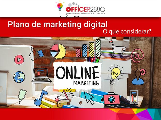 Plano de marketing digital – O que considerar?