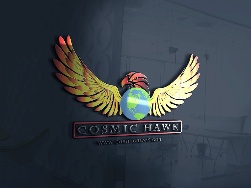 This is Cosmic Hawk 3D Logo and details of the company