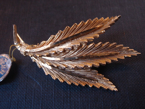 TRES BELLE BROCHE PLAQUE OR VINTAGE 1950 Neuf