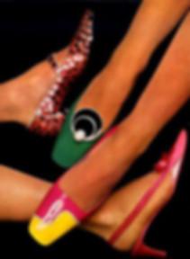sandales,escarpin de soirée,bi-colore,talon mi-haut,bout carré,arlequin,femme ,pas cher, jamais porté, stock neuf d'époque vintage 1960