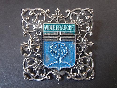 BROCHE VILLE DE VILLEFRANCHE FILIGRANE VINTAGE 70