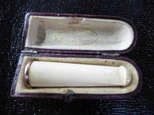 FUME CIGARETTE organique cerclé OR ET ARGENT VINTAGE 1900  PARFAIT ETAT