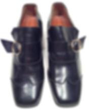 spacevintage,marseille,france,chaussure,bottine,boucle,à lacets,bout carré,pas cher, jamais porté,stock neuf d'époque,homme vintage 1960