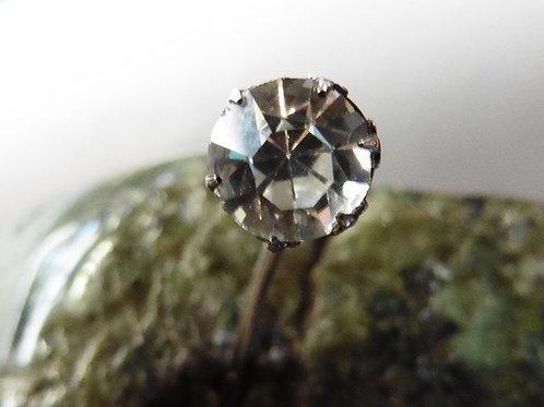 ÉPINGLE A CRAVATE VINTAGE 1920 Art Déco Zirconium Argent  NEUF/NEW 5.5 MM
