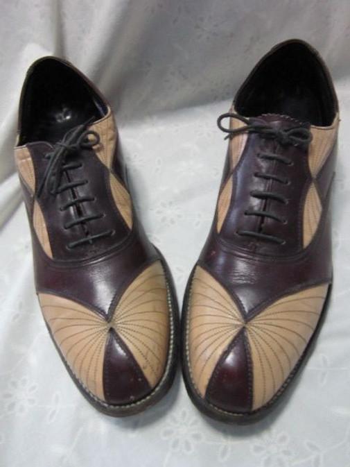 chaussure-homme-début-du-siècle,spacevintage,marseille,france,Chaussures, Homme,2-tons-début-du-siècle