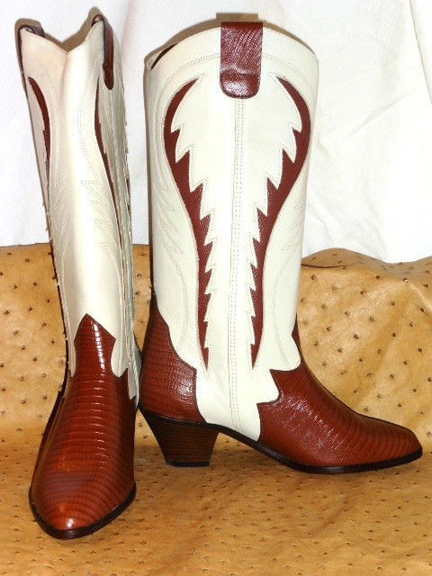 Cuir Vintage T 2 Superbe Bocage 80 Bottes Neuf Western Tout Tons 38 E2DH9IYW