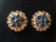 spacevintage,marseille,france,boucle d'oreille plaqué or et argent, pierres fines, perles de culture,fantaisie,parure,vintage femme 1940