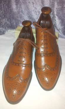 spacevintage,marseille,france,Homme wing toe shoes, church, chaussures à lacets, vintage 1930