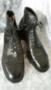 spacevintage,marseille,france,espadrille,pantoufle,bottes,mocassins,sandales,homme vintage 1940chaussures, bottines à lacets