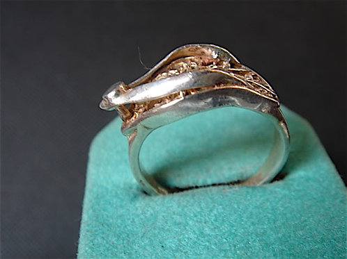 BAGUE FILIGRANE VINTAGE 70 ARGENT 925 NEUF T.51 /OLD NEW SILVER 925 RING
