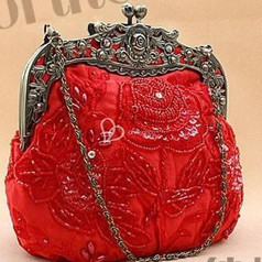 sac perlé,sac cote de maille ,mesh bag,beaded purse,pochette,vintage 1920 pas cher