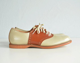 spacevintage,marseille,france,saddle shoe, chaussure 2 tons ,homme vintage 1950