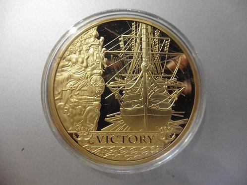 PIÈCE COMMEMORATIVE DU HMS VICTORY avec capsule