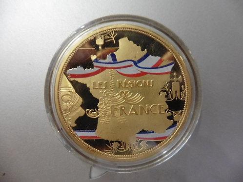 PIÈCE COMMEMORATIVE LES REGIONS DE FRANCE LORRAINE avec capsule