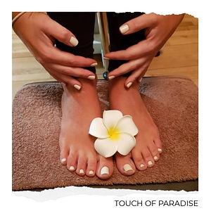 Touch of Paradise - Cream mani and pedi.