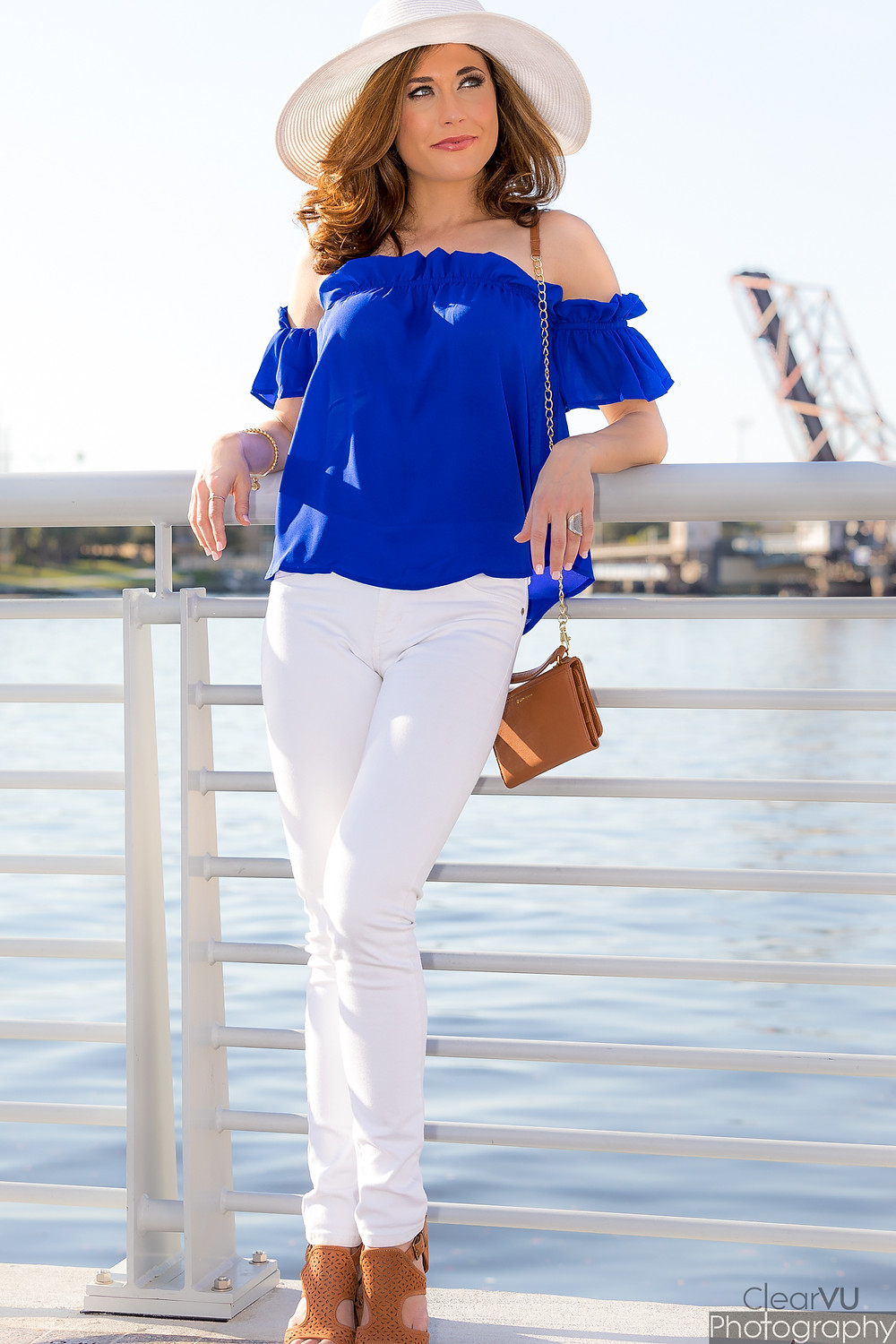 florida fashion, white denim, livs lookbook, off the shoulder, tampa blog