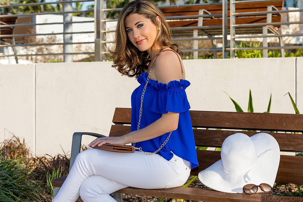 florida fashion, white denim, livs lookbook, off the shoulder, tampa blog, tampa bay fashion