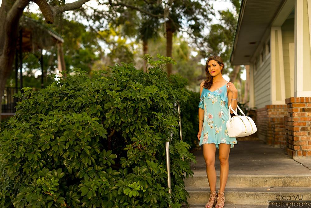 slip dress, satin romper, slip romper, blue satin romper, floral slip dress, summer fashion
