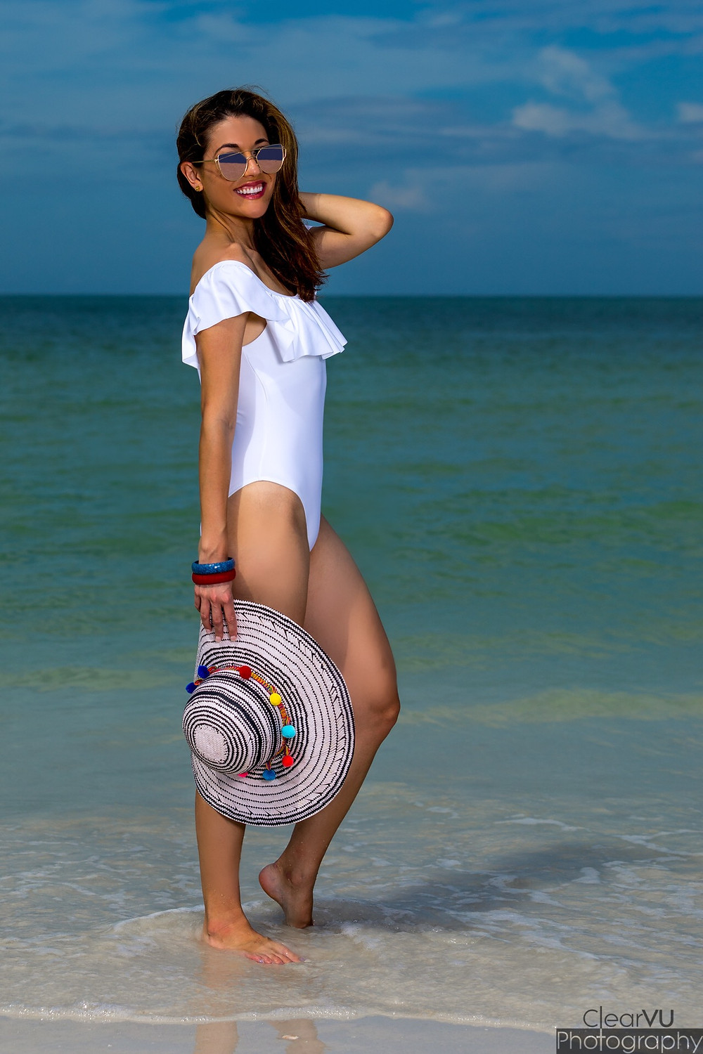 white suit, one-piece, white swimsuit, swimsuit