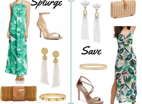 Splurge vs. Save: Palm Print Maxi Dress