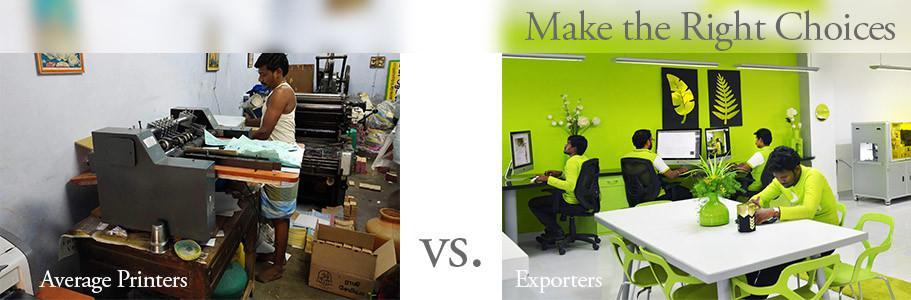 Excellent vs average Printers