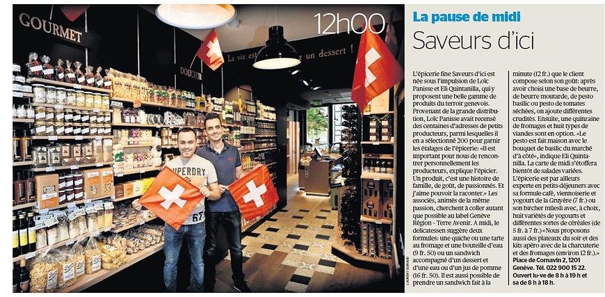 Saveurs d'ici - Tribune de Genève