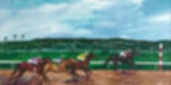 Golden Gate Fields, Berkeley, California, race horses, horse painting, race horse painting, Ruffian painting, berkeley artist, acrylic painting on canvass