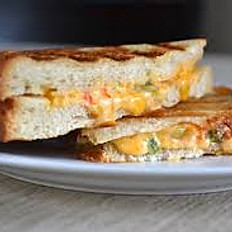 GRILLED PIMIENTO (OR PIMENTO) CHEESE AND FRIED GREEN TOMATO SANDWICHES