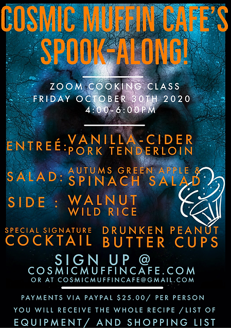 October Flyer for cosmic muffin website.