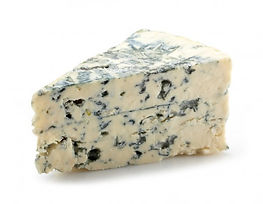 Large slice of Blue Cheese.