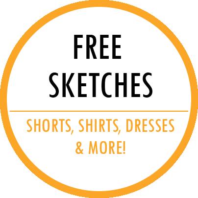 Free fashion CAD sketches