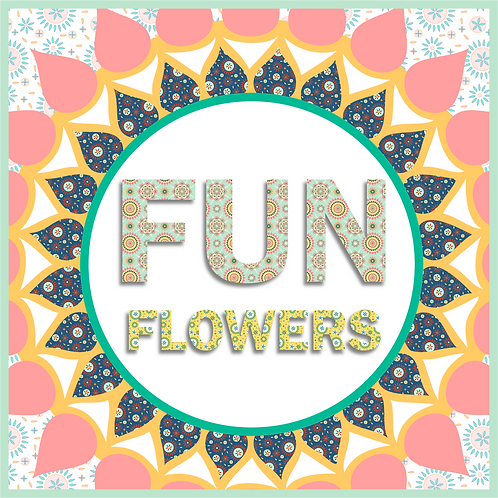 Fun Flowers: 2 Seamless Prints