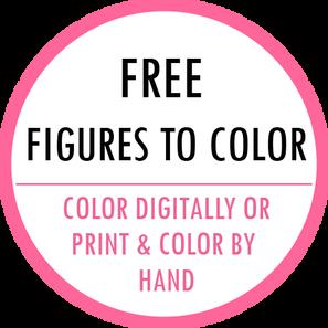 Free fashion coloring figure