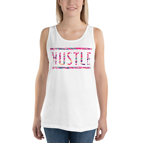 Tank Top with a Colorful Pink HUSTLE typography