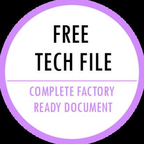 Free fashion technical file template