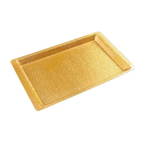 Charola dorada acrilica