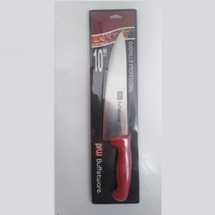 """Cuchillo chef 10"""" rojo"""