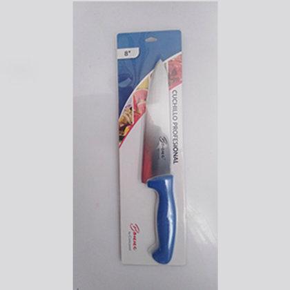 """Cuchillo chef 8"""" azul"""
