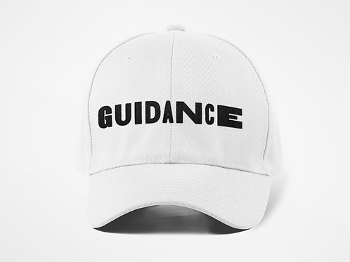 GUIDANCE Dad Hat -White