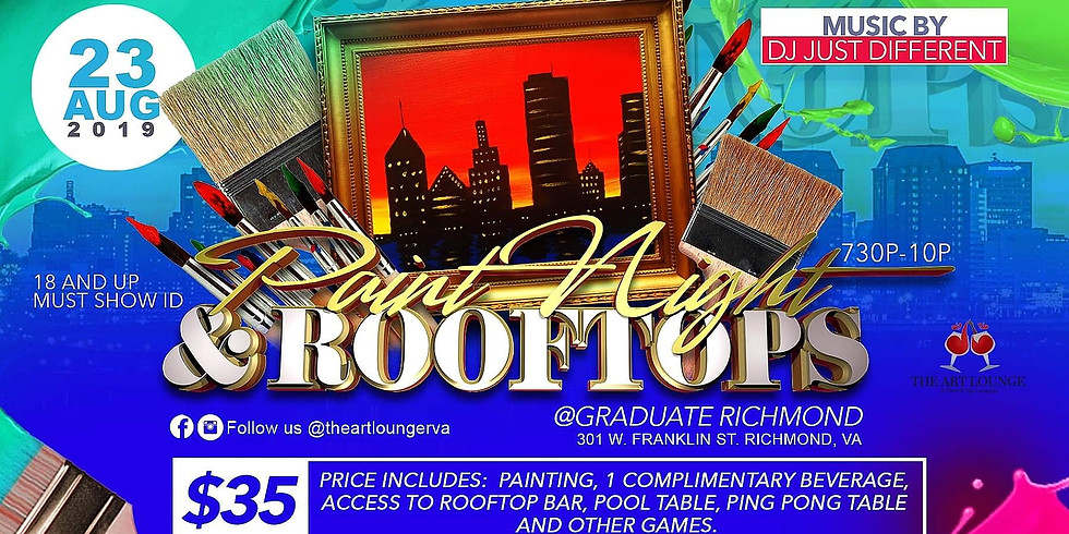 (SOLD OUT) Paint Night & Rooftops at The Graduate Richmond