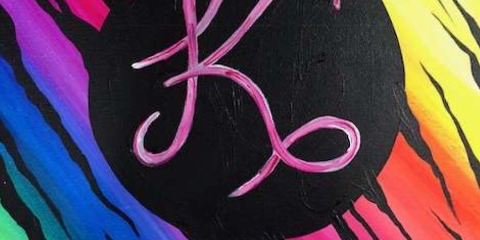 Zebra Monogram(custom color & letter)