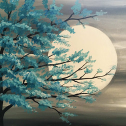 Teal Moon light